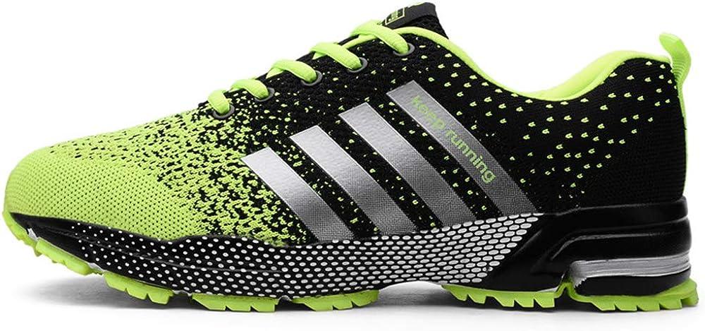 Linson123 Marathon - Zapatillas de Running para Hombre, Verde ...