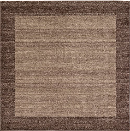 "8 feet 0 inches Square (8' 0"" Square) Del Mar Light Brown Area Rug"