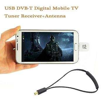 bescita de Micro USB DVB-T Televisión móvil sintonizador digital Receptor + Antena para Android Smartphone: Amazon.es: Informática