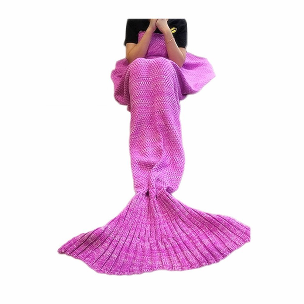 FYHAP Mermaid Blanket, Mermaid Tail Blanket Soft All Seasons for Kids,Sofa Quilt Living Room Super Sleeping Bags (Kids Pink)