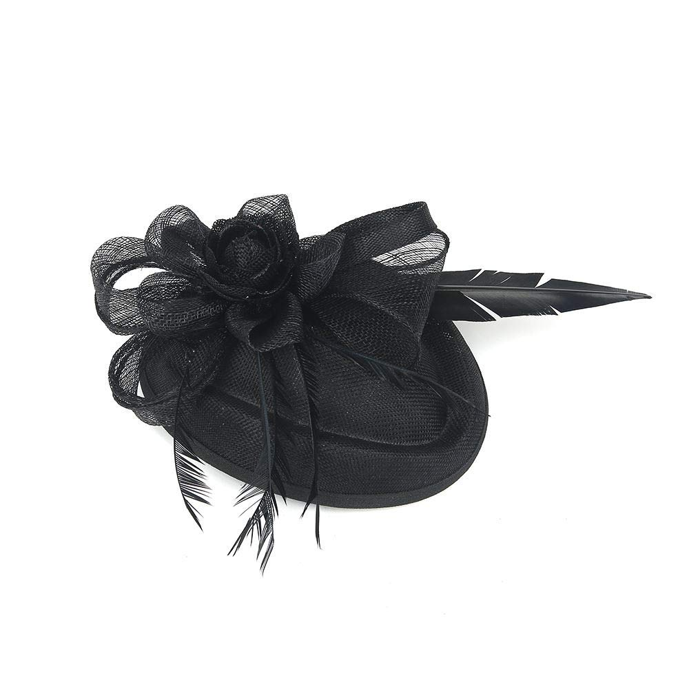 Hotstylezone Large Headband and Clip Hat Fascinator Weddings Party Race Royal Ascot