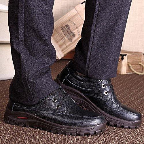 Bout no Cuir Chaussures Derbies Souple Hommes lettering Ronde MS Bespoke noir w7ZxgqU