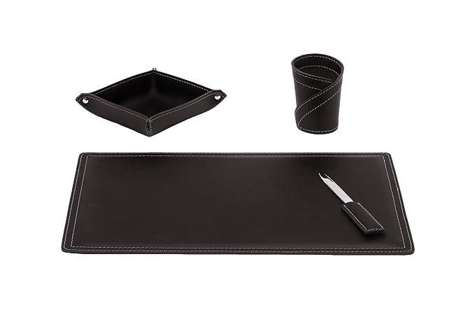 Artikle Leather Corporate Desk Kit 4 Pieces Office Desk Pad Organize