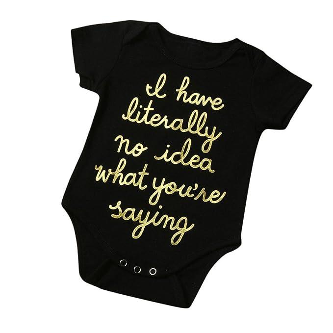 Amazon.com: Kehen recién nacido bebé niño Niña dorado letra ...