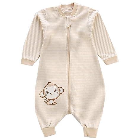 Saco de dormir para bebé, piernas separadas de algodón de ...