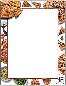 Pizza Party Letterhead Laser & Inkjet Printer Paper (25 Sheets)