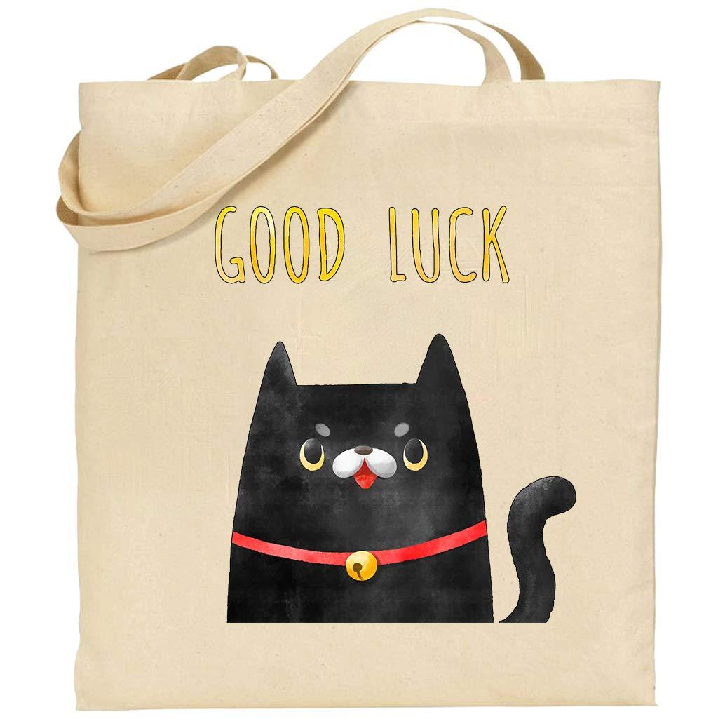 Bolsa algodón gato negro personalizable tote bag: Amazon.es: Handmade