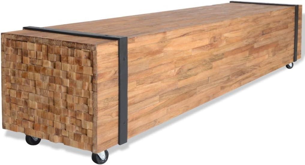 vidaXL Teca Mueble para TV 150x30x30 cm Soporte Mesa Aparador ...