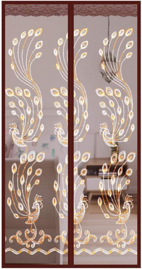 SHIMENLAN De Puerta de Pantalla magnética,Heavy Duty Autoadhesivo Actualizado De Este Hotel de Mascotas y niño Francés Puerta corredera Patio Puerta Doble-C 120x210cm(47x83inch): Amazon.es: Hogar