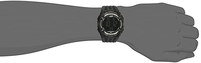 Amazon.com: Skechers Mens El Porto Quartz Plastic and PU Digital Watch Color: Black (Model: SR1008): Watches