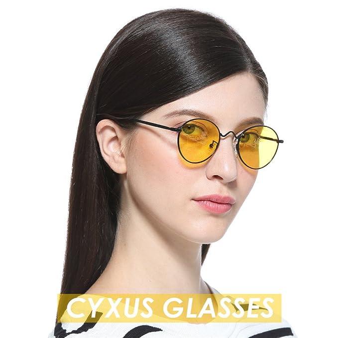 73a5188453ab Cyxus Blue Light Filter Glases[Better Sleep] Anti Eye Strain Headache Video  Eyewear,8702 (Black Frame / Yellow Lens): Amazon.co.uk: Health & Personal  Care