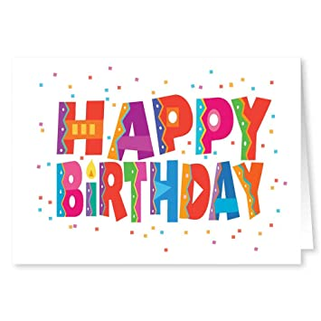 Amazon bulk set happy birthday cards 18 cards and 19 bulk set happy birthday cards 18 cards and 19 envelopes boxed birthday cards m4hsunfo Images