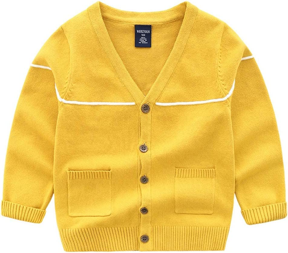 Weentop Suéter de los niños Suéter de Manga Larga Cardigan Algodón ...