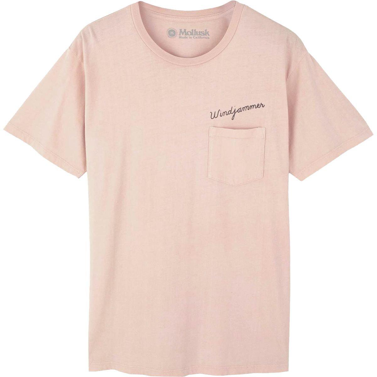 f74d2f7f66c2 Amazon.com: Mollusk Windjammer T-Shirt - Men's Blush, S: Clothing