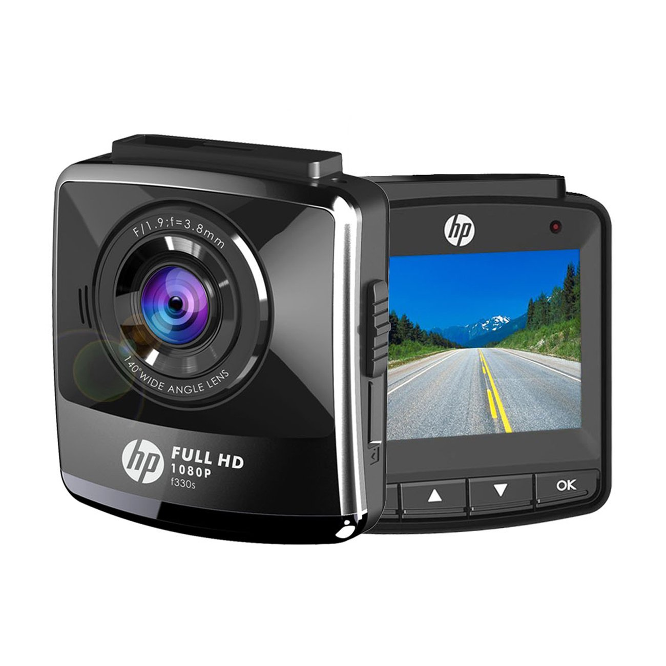 HP Dash Cam For Cars Full HD 1080P DVR Vehicle Dashboard Camera Recorder,2.4'' LCD,G-Sensor, Night Vision, WDR, Parking Guard, Loop Recording,Invisible