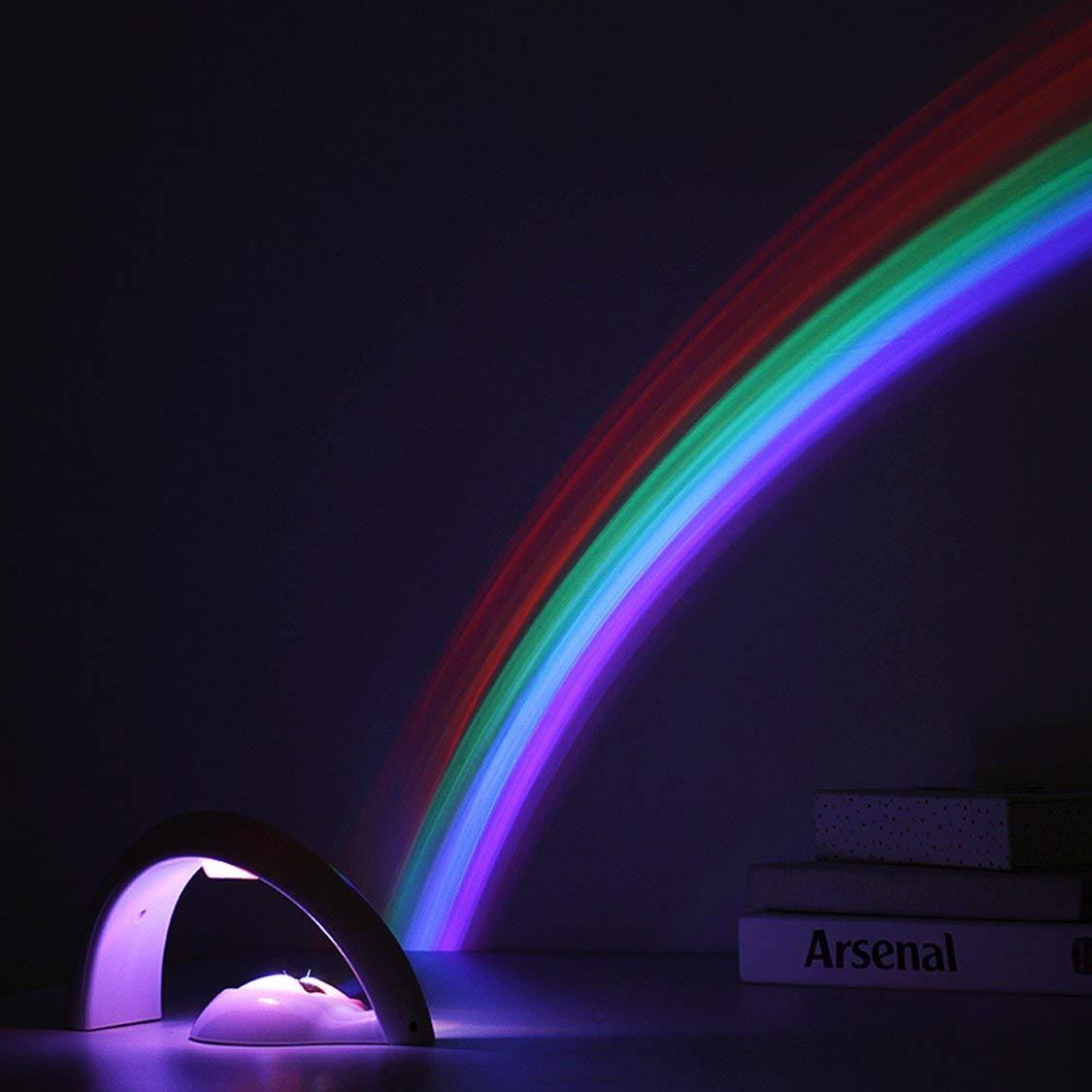 Rainbow Projector Light 2 Modo Portátil LED Luz de Proyección ...