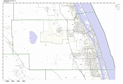 Indian River Florida Map.Amazon Com Indian River County Florida Fl Zip Code Map Not