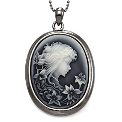 art lolita rose gothic next black pendant skull cameo choker satin red