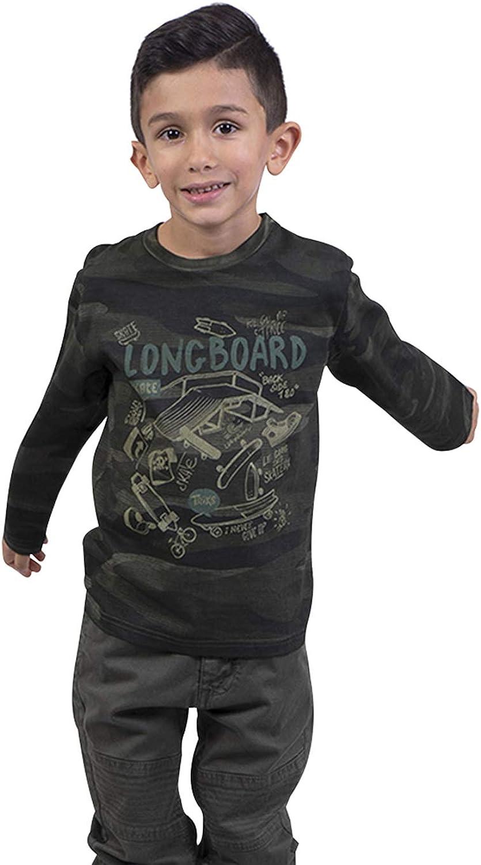 Longboard - Camiseta para niño, Color Caqui: Amazon.es: Ropa y accesorios
