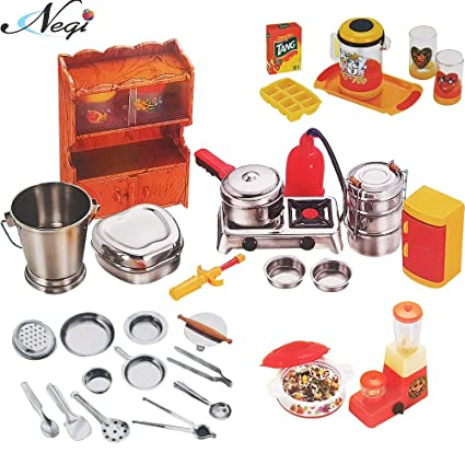 Buy Negi 34pcs Stainless Steel Utensils Non Toxic Indian Kitchen Set