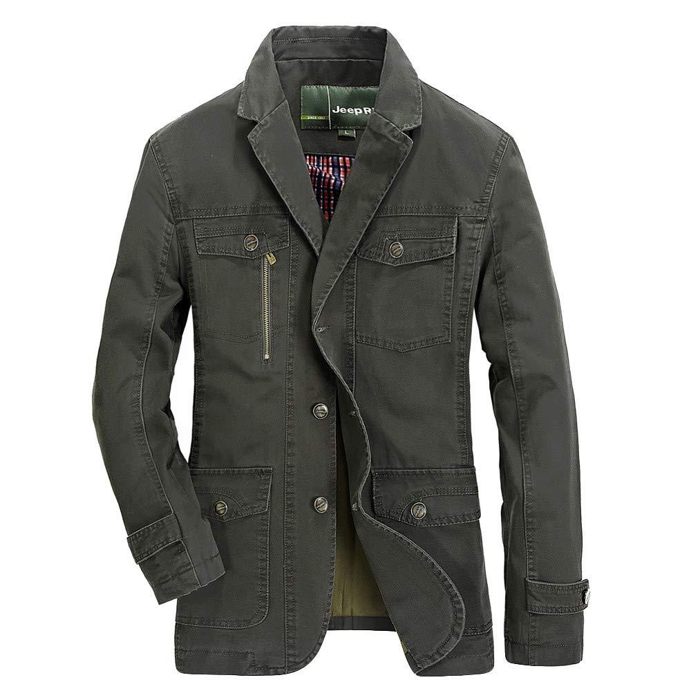 Mens Hoodies Zip Up Big and Tall.Men's Autumn Winter Fashion Pocket Suit Medium Length Long Sleeve Jacket Coat