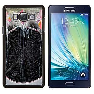 Arte de la pintura Líneas Rayas- Metal de aluminio y de plástico duro Caja del teléfono - Negro - Samsung Galaxy A7 / SM-A700