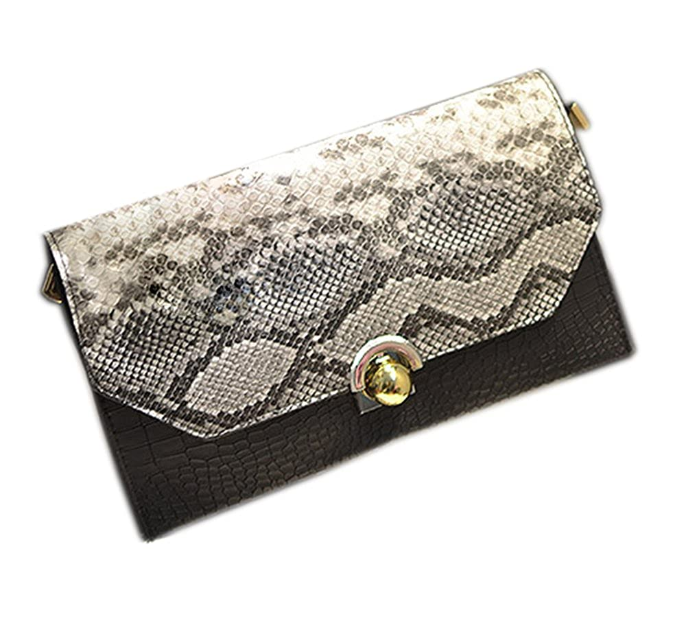 f44452113 Vintage Snakeskin Clutch Bag PU Leather Envelope Handbag Purse for Women  (Black): Handbags: Amazon.com