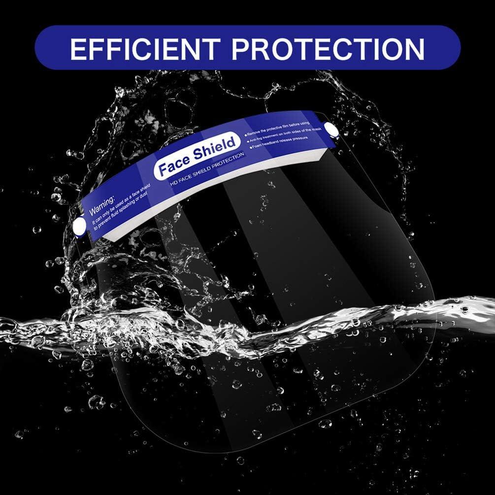 Visera Protectora Ajustable para la Cara Ojos Completa Sombrero Protector Facial Anti-Aceite Anti-Salpicadura Protecci/ón Solar FEOYA