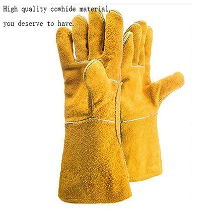 QqHAO TYXHZL Soldador Resistente al Desgaste Resistente al Calor Amarillo Doble Engrosamiento protección Soldadura Trabajo Seguro