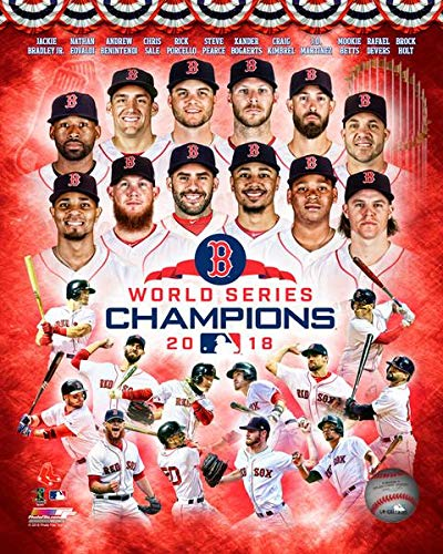 The Boston Red Sox 2018 World Series Champions 8x10 Photo. Collage Picture