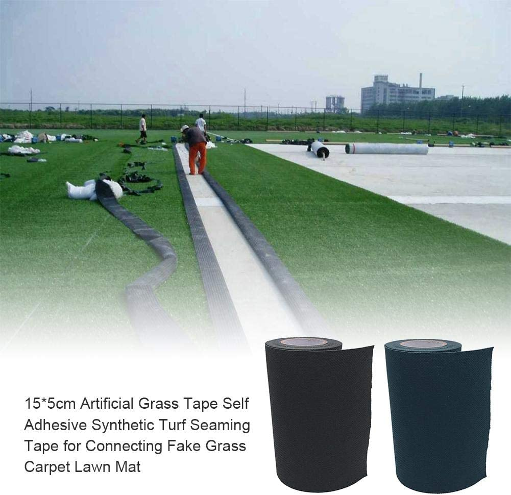 5 m x 15 cm // 196.85 inch x 5.91 inch Artificial Grass Tape,Fixing Turf Tape Self Adhesive Lawn Carpet Seaming