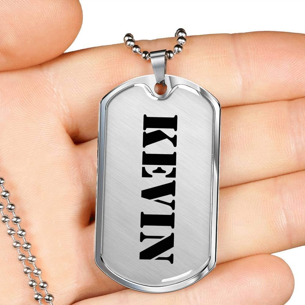 Unique Gifts Store Kevin Luxury Dog Tag Necklace Jewelry Fashion ...