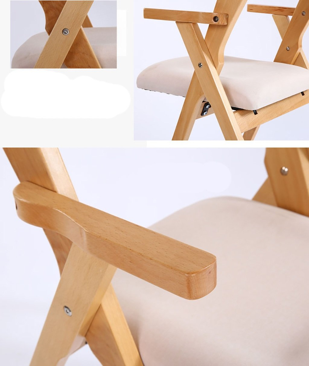Amazon.com: Wood Folding Chair Solid Wood Folding Chair Household ...