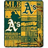 "MLB Oakland Athletics 50"" x 60"" Fleece Throw #44680428"