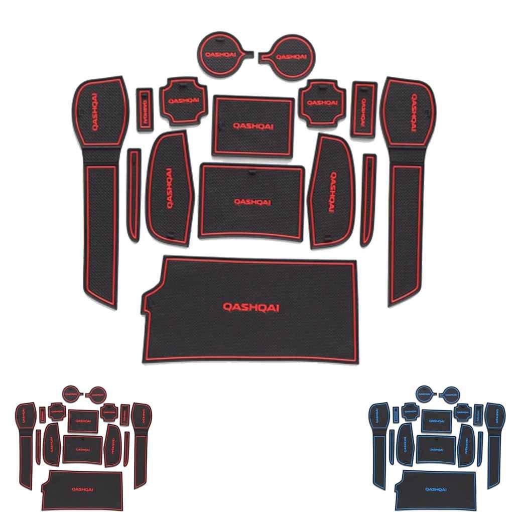 Lorjoyx Car Antiscivolo Coppa Mats Anti Slittamento Mat Kit Slot Pad Porta Groove Porta per Nissan Qashqai 2016 Arredamento