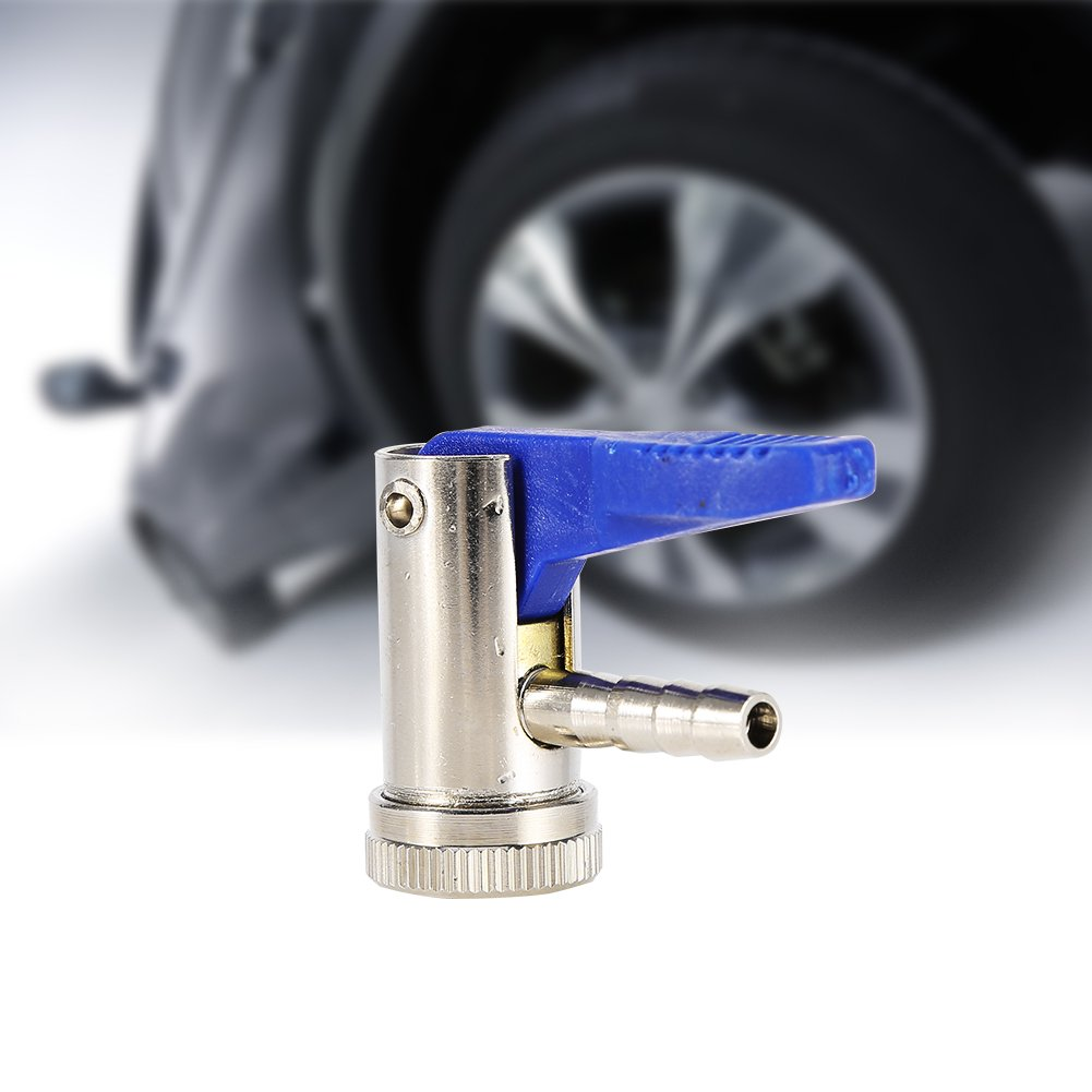 Acouto 6mm Clip on Chuck Tire Valve Connector Tyre Airline Inflator Valve Car Motorbike