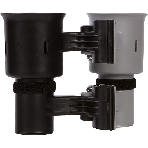 Robo Cup portavasos para la Barra de Bebidas caña de Pescar en Barco Playa Carrito de Golf Silla de Ruedas Andador Baquetas micrófono Gris y Negro: ...