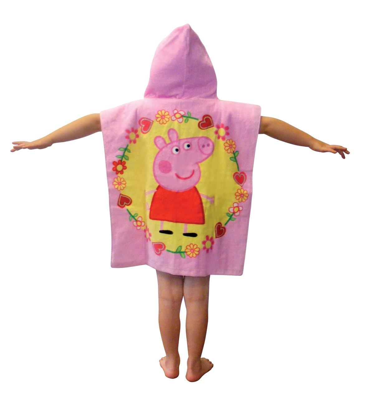 Toalla con capucha Poncho Toalla, playa Peppa Pig Toalla, toalla de baño, una tamaño - ideal para vacaciones de este verano. Para niños o niñas: Amazon.es: ...