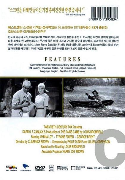 The Rains Came (1939) UK Region 2 ALL REGION DVD: Amazon co