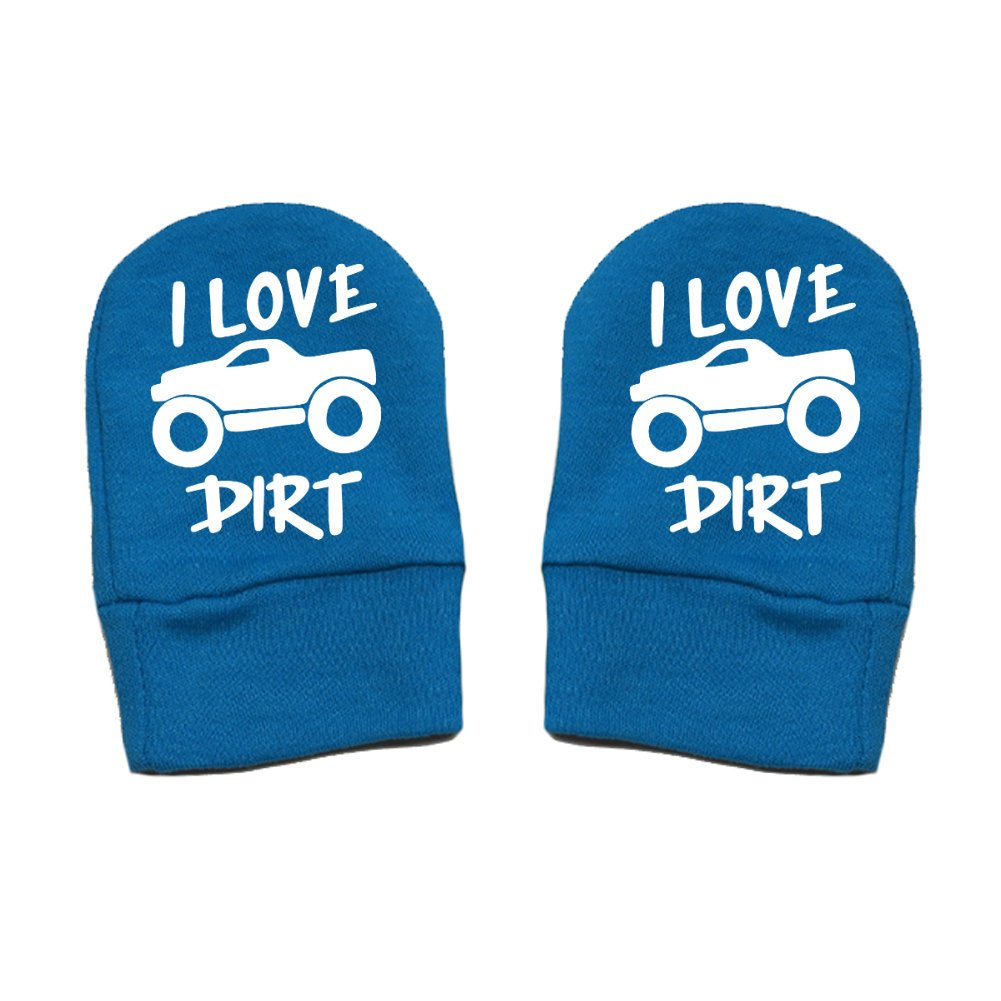 Mashed Clothing Unisex-Baby Truck Thick /& Soft Baby Mittens Thick Premium I Love Dirt - Fun /& Trendy
