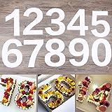 EORTA 0-8 Numeral Cake Tins Molds Arabic Number Cake Maker Decorative Fillings Layered Cake Baking Tools for DIY Wedding…
