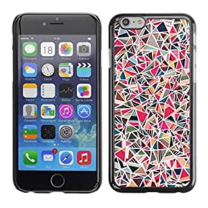 """Pulsar Snap-on Series Teléfono Carcasa Funda Case Caso para Apple Iphone 6 Plus / 6S Plus ( 5.5 ) , Líneas del arte abstracto del rosa Mosaique"""""""