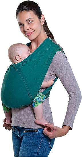 Imagen deAmazonas AZ5039002 - Portabebés sin nudos para niños de 4 meses - 3 años, color Verde (Petrol), talla única