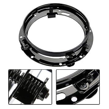 Black 7 inch Round Headlight Ring Mounting Bracket Headlight Mount for Je-ep Wrang-ler
