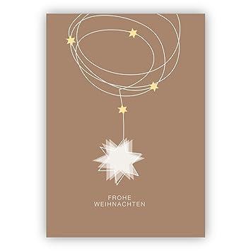 Edle Weihnachtskarten.Weihnachtskarten Set 4stk Edle Weihnachtskarte Mit Sternen