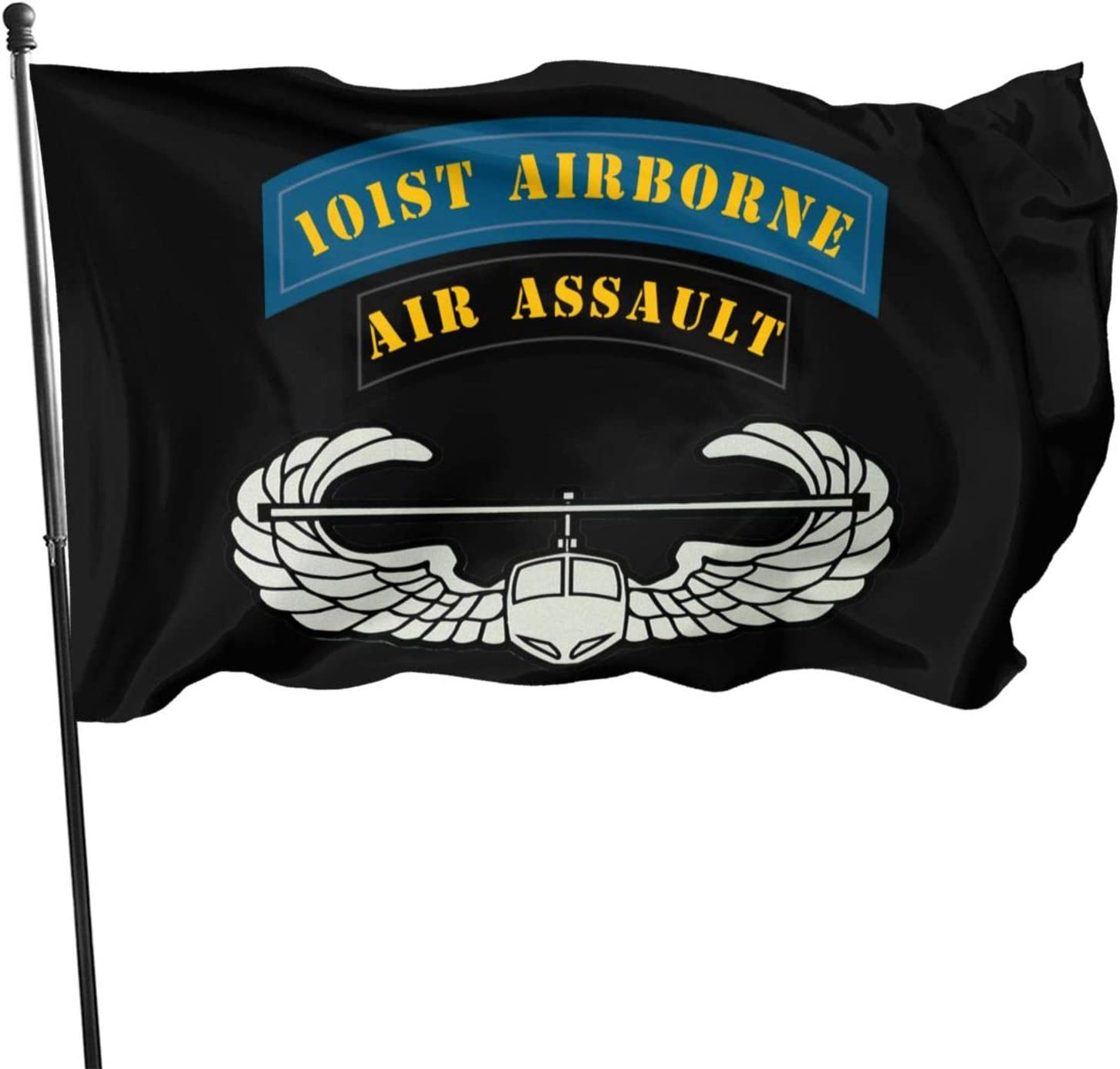 WUWEJHYQSE Us Army 101st Airborne Air Assault Flag 3x5 Ft,Home Garden Flag, Suitable for Indoor Or Outdoor