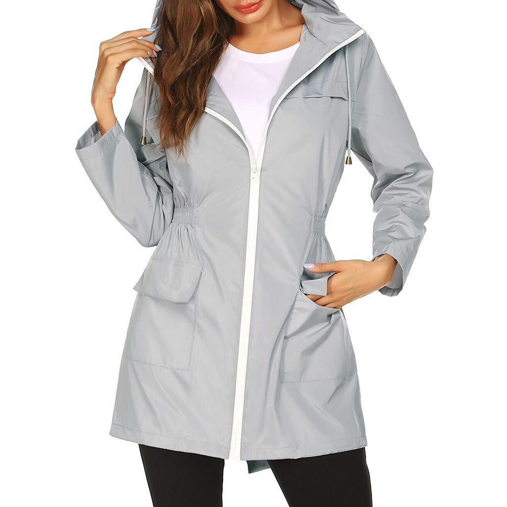 aihihe Womens Lightweight Hooded Waterproof Raincoat Windbreaker Active Outdoor Rain Jacket Parka Coats Jackets
