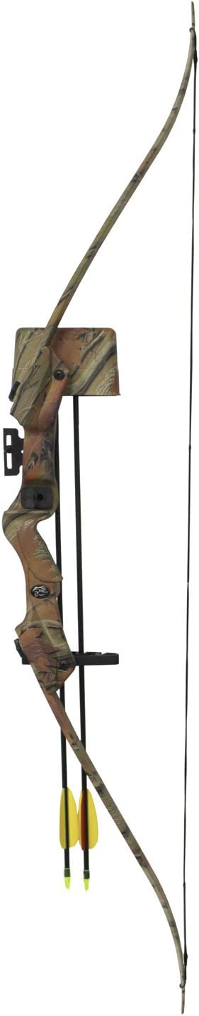 Hellbow Recurve Bow Set 20 lbs and 85 FPS for right-handed an ideal set for the young archer camo color