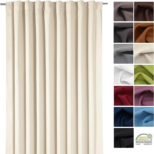 Gardine XXL Dekoschal BLICKDICHT Verdunkelungsgardine Thermogardine HxB  245x275 cm Kälte- und Wärmeisolierung …auspacken, aufhängen, fertig!  Vorhang ...