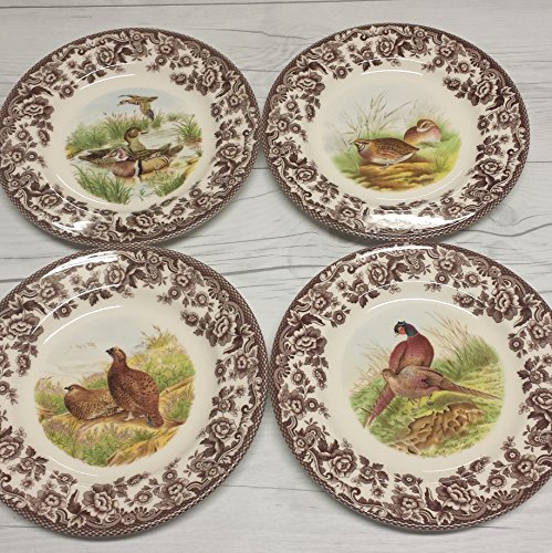 "Spode Woodland Salad Plate 8"" Set of 4"